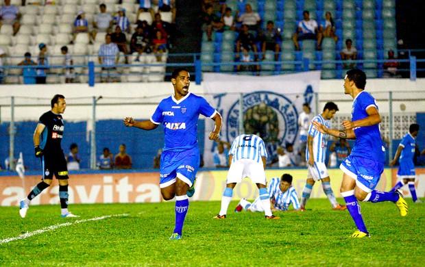 Cleber Santana comemoração Avaí contra Paysandu (Foto: Thiago Gomes / Agência Estado)