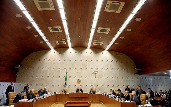 Votação do  Supremo Tribunal Federal sobre a legalização  do consumo de drogas (Foto: Audiência)