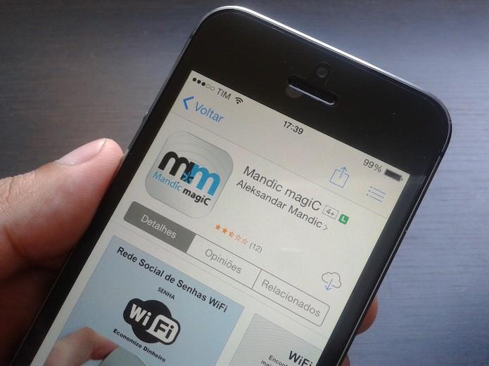 O Mandic Magic fez sucesso por mostrar senhas Wi-Fi em redes públicas (Foto: Marvin Costa/TechTudo)