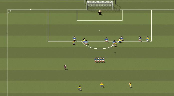 Gol Roberto Carlos Brasil França 8-bit