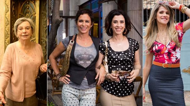 No mês de aniversário de 50 anos da Globo, Os Experientes, a última temporada de Tapas e Beijos e Chapa Quente (Foto: Globo)