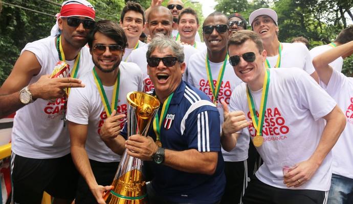 Marcelo Veiga, técnico do Botafogo-SP, jogadores (Foto: Luís Augusto / Agência Botafogo)