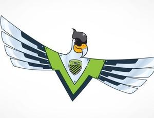 Gavião de Aço é o mascote do Trio Futebol. (Foto: Divulgação / Trio Futebol)