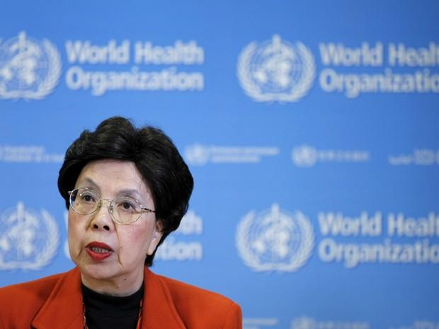 Margaret Chan, diretora-geral da Organização Mundial de Saúde (OMS), durante coletiva de imprensa em Geneva, na Suíça. A entidade declarou o caso do vírus zika uma questão de emergência de saúde pública internacional (Foto: Pierre Albouy/Reuters)