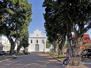 Igreja do Rosário de Vila Velha é aberta para visitação, no ES (Foto: Divulgação/ PMVV)