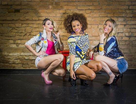 Jennifer Nascimento, Nikki e Luiza Possi são as protagonistas do musical Divas (Foto: Anna Carolina Negri/ Época)