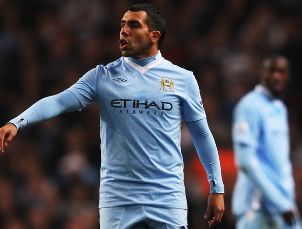 tevez Manchester City x chelsea (Foto: Getty Images)