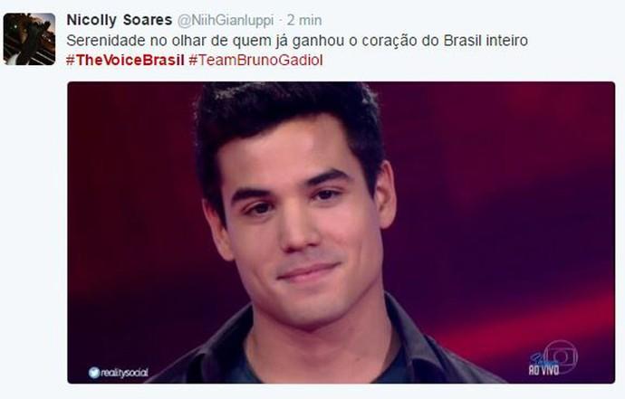 Tweet Bruno Gadiol (Foto: Reprodução da Internet)