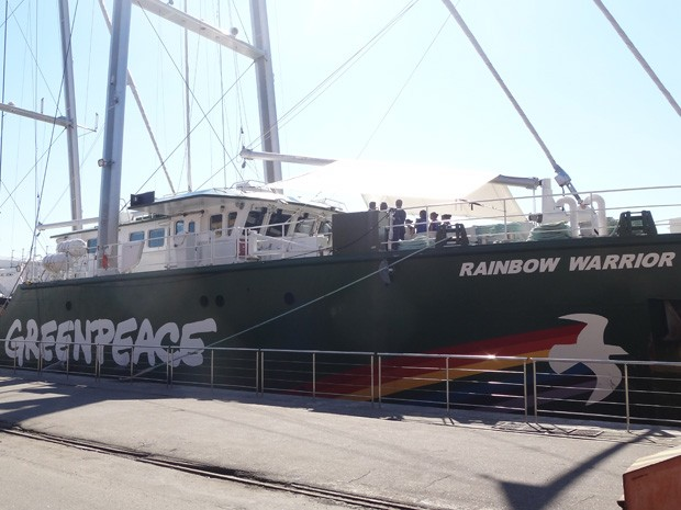 Navio est&#225; ancorado no Pier Mau&#225;, no Rio, para a confer&#234;ncia da ONU Rio+20 (Foto: Marcelo Rosa de Albuquerque/VC no G1)