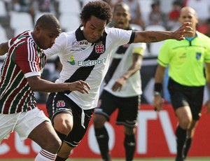 Carlos Alberto, Fluminense x Vasco (Foto: Alexandro Auler/Agência O Globo)