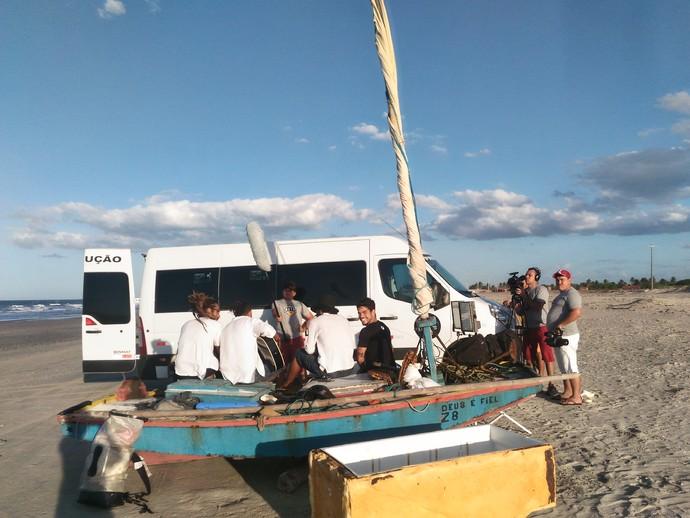 Bastidores do 'Rota' em Porto do Mangue (Foto: Larissa Cavalcante)