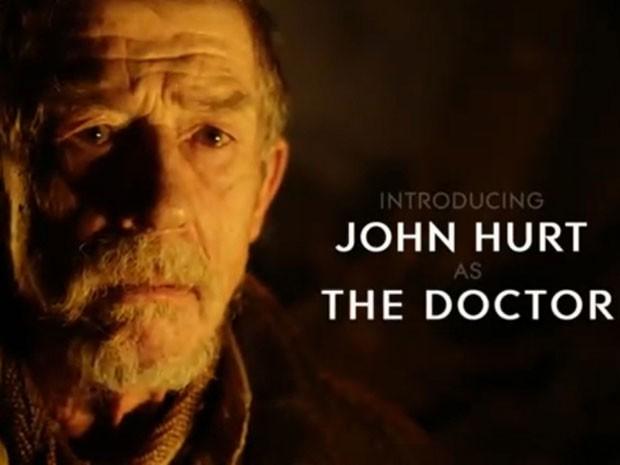 John Hurt em 'The name of the Doctor' (Foto: Divulgação)
