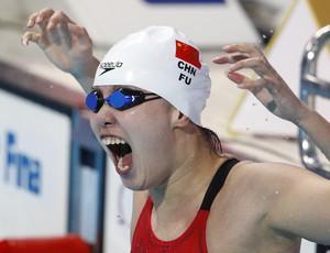 Fu Yuanhui ouro 50m costas Mundial de Kazan (Foto: Sergei Grits/AP)