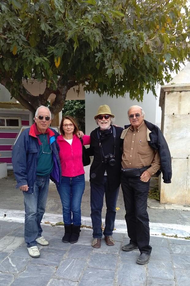 Giorgos, Nonna, José de Abreu e o amigo, Hercules  (Foto: Arquivo pessoal)