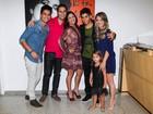 Filhos e neta prestigiam show de Leonardo em São Paulo