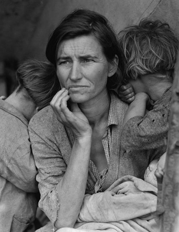 Mãe Migrante, Dorothea Lange, 1936 (Foto: Divulgação)