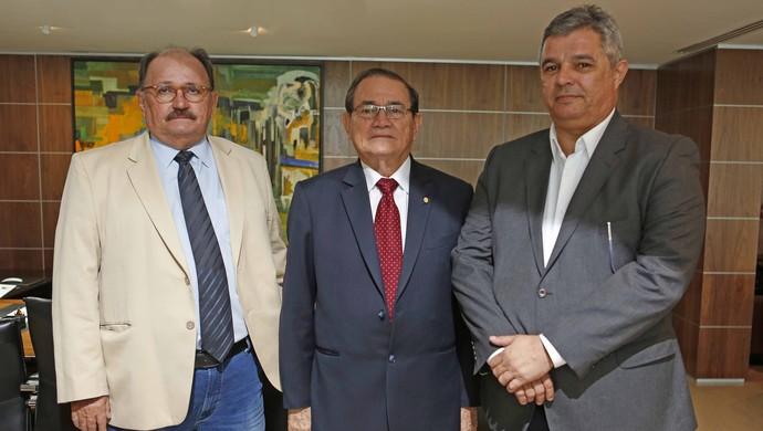José Vanildo, Coronel Nunes e Felipe Augusto CBF FNF Fenapaf (Foto: Divulgação/CBF)