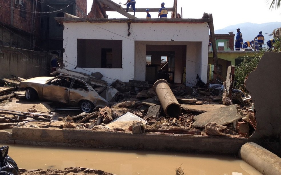Casa destruída após rompimento em Campo Grande em 2013  (Foto: Mariucha Machado/G1)
