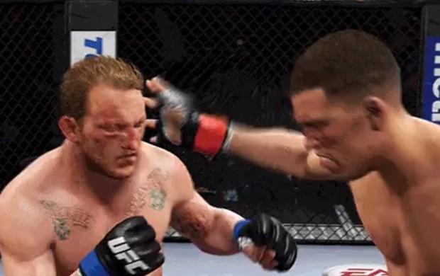 Nate Diaz tapa jogo UFC