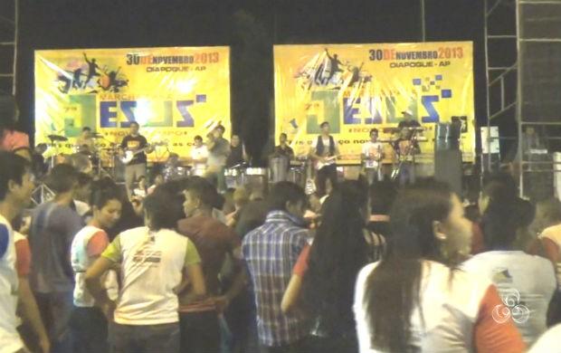 Marcha para Jesus em Oiapoque (Foto: Reprodução/TV Amapá)