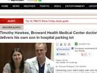 Ortopedista faz parto do filho em estacionamento de hospital nos EUA