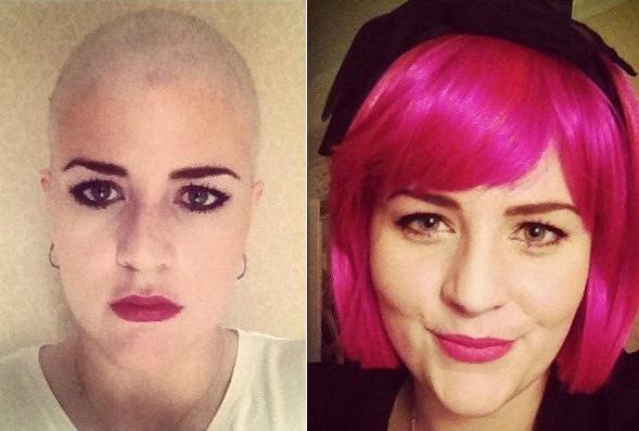 A blogueira mostra estilo com ou sem peruca (Foto: arquivo pessoal)