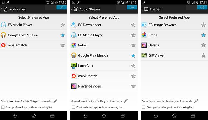 Escolha os apps padrão (Foto: Reprodução/Paulo Alves)