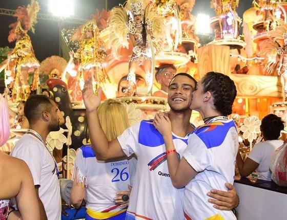 Sophia e Sergio aproveitaram a festa para celebrar o bom momento no namoro e na carreira (Foto: Renato Wrobel/Ed.Globo)