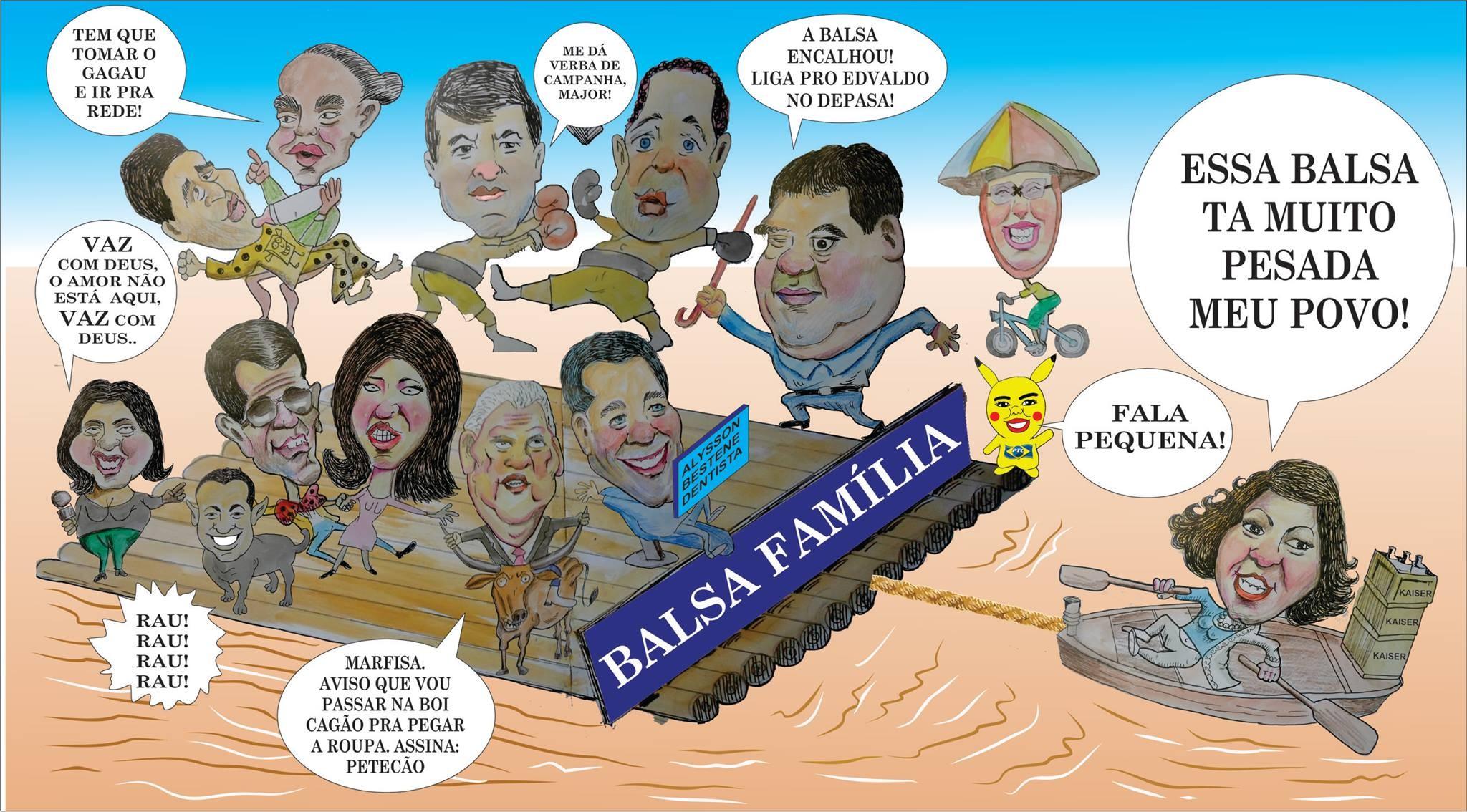 Charge de balsa é tradição em jornais impressos do estado  (Foto: Raimundo Mendes/Arquivo pessoal )