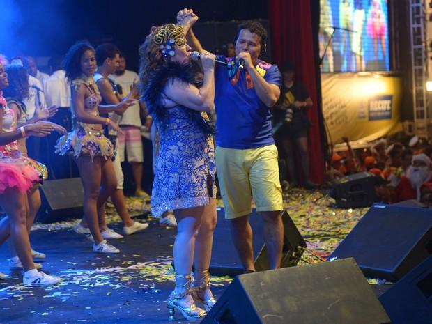 Nena Queiroga e Almir Rouche, no Baile Municipal do Recife (Foto: Luka Santos / G1)