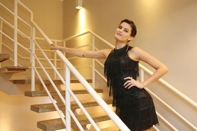 Isabeli Fontana nos bastidores do 'Altas Horas' (Foto: Carol Caminha/Gshow)