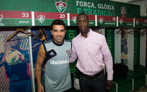 Michael Johnson Deco Fluminense atletismo (Foto: Bruno Haddad /FLUMINENSE F.C.)