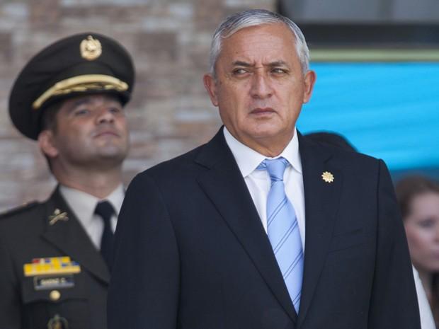 O presidente da Guatemala, Otto Pérez Molina, em foto de 14 de agosto (Foto: AP Photo/Moises Castillo)
