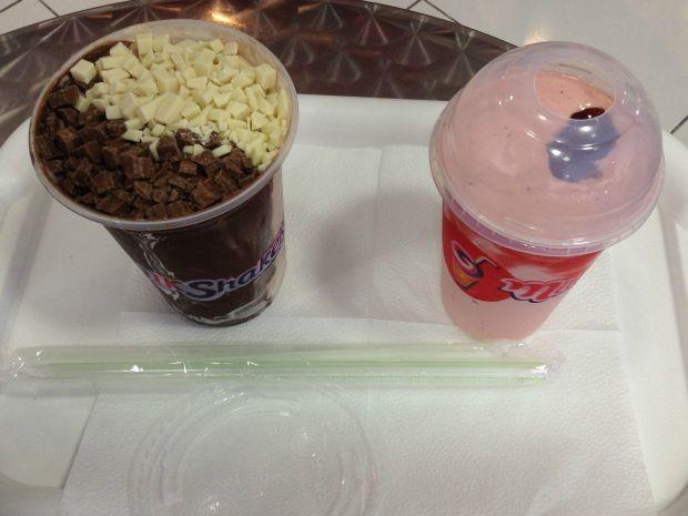 No rodízio, são oferecidos 32 sabores de milkshakes (Foto: Juliene Katayama/G1 MS)