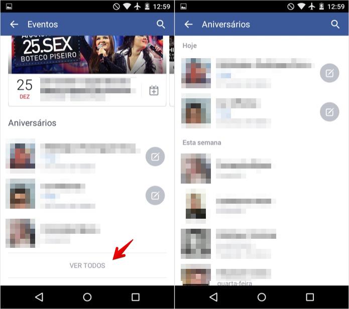 Visualizando aniversariantes do dia no Android (Foto: Reprodução/Helito Bijora)  (Foto: Visualizando aniversariantes do dia no Android (Foto: Reprodução/Helito Bijora) )