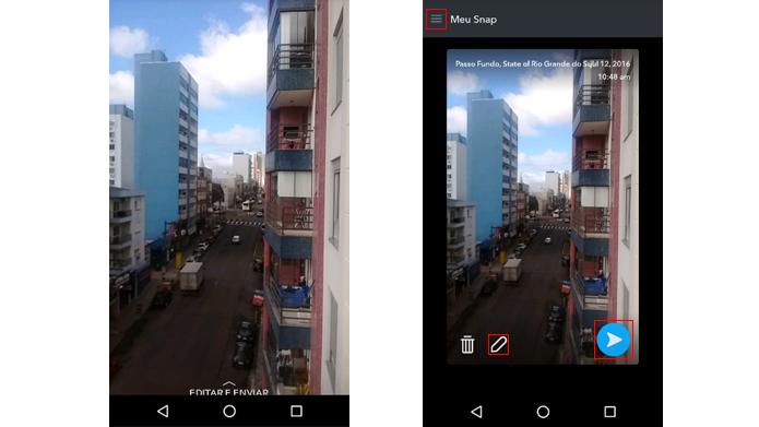 Memories permite editar snaps e publicá-los como novas histórias (Foto: Reprodução/Snapchat)