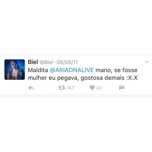 Ariadna fala sobre post de Biel (Foto: Reprodução/Instagram)