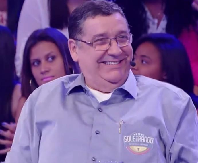 Sérgio Nogueira no palco do Caldeirão do Huck (Foto: TV Globo)
