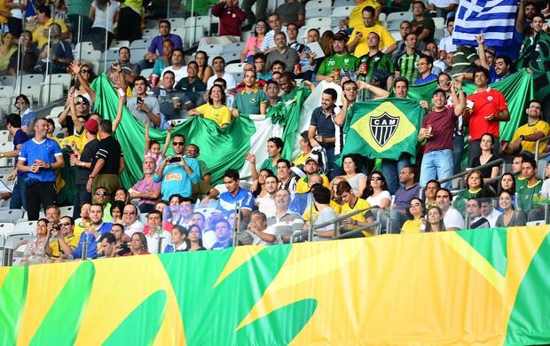 Torcidas times brasileiros, Taiti x Nigéria Mineirão - Atlético-Mg Cruzeiro (Foto: Marcos Ribolli)