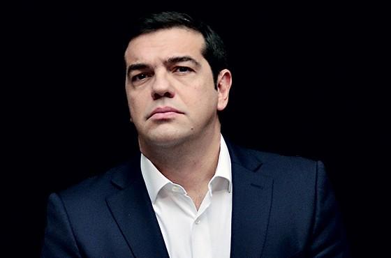 ALEXIS TSIPRAS Grécia O primeiro-ministro grego e líder do Syriza foi reeleito em setembro, pregando a renegociação da dívida externa grega e o fim das medidas de austeridade exigidas por credores (Foto: Michele Tantussi/ Getty Images)
