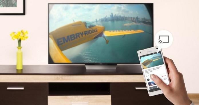 Antigo Google Cast, Google Home transmite conteúdos de dispositivos Android e iOS para Android TV (Foto: Divulgação/Google) (Foto: Antigo Google Cast, Google Home transmite conteúdos de dispositivos Android e iOS para Android TV (Foto: Divulgação/Google))