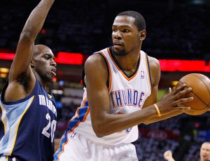Basquete NBA - Memphis Grizzlies v Oklahoma City Thunder, Kevin Durant (Foto: Reuters)