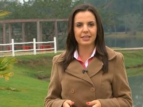 Apresentadora Fernanda Monteiro (Foto: Reprodução/TV Diário)