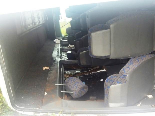 Apenas uma pessoa sofreu ferimentos leves (Foto: Portal Alegrete Tudo)