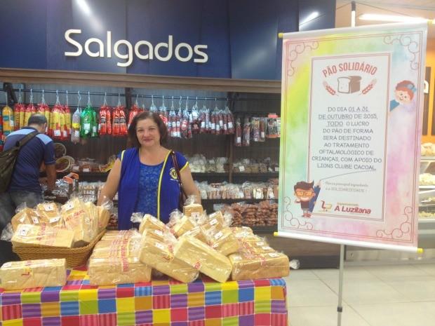 A Campanha Pão Solidário está acontecendo em Cacoal, durante todo o mês de outubro (Foto: Magda Oliveira/G1)
