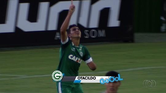 Otacildo estreia com gol na equipe profissional do Goiás e ganha elogios