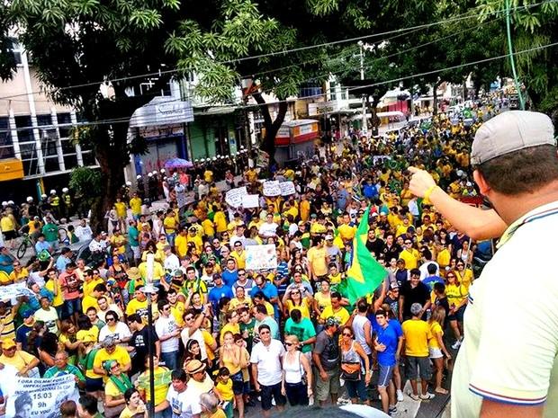 Estimativa da PM informou que 30 mil manifestantes participaram do ato. (Foto: Alexandre Yuri/ G1)