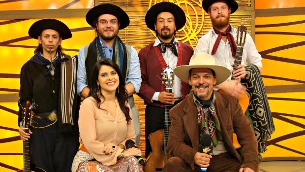 Quarteto Coração de Potro (Foto: Daniel Bittencourt/RBS TV)