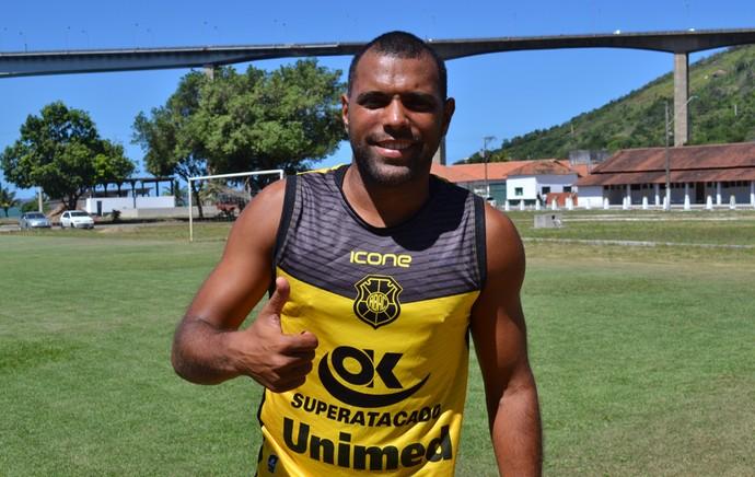 Márcio Carioca, atacante do Rio Branco-ES (Foto: Sidney Magno Novo/GloboEsporte.com)
