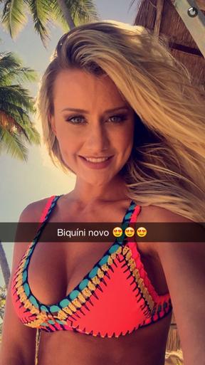 Ana Paula Siebert (Foto: Reprodução/Snapchat)